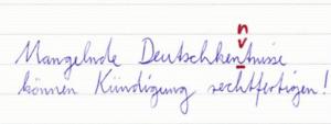 Mangelnde Deutschkenntnisse können Kündigungsgrund sein