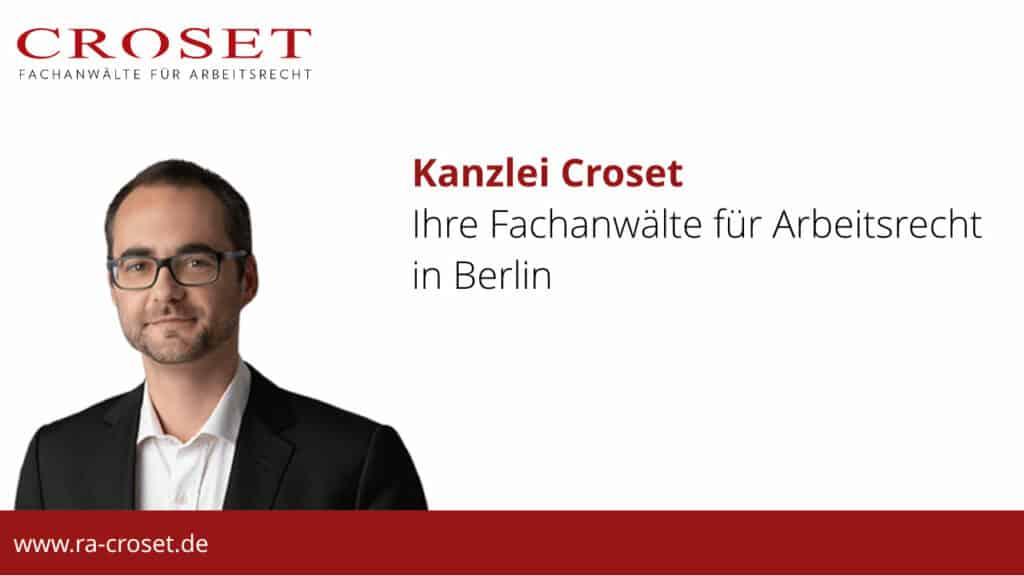 Kanzlei CROSET - Ihre Fachanwälte für Arbeitsrecht in Berlin